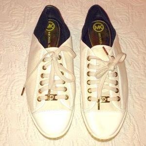 Michael Kors white canvas espadrille sneakers 10